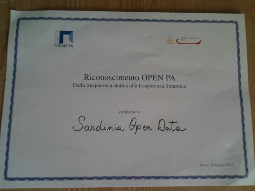 Sardinia Open Data premiata al ForumPA